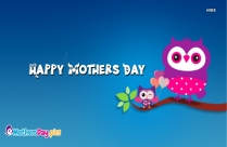 Happy Mothers Day Owl