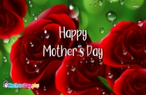 Happy Mothers Day Red Rose Image