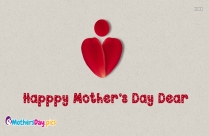 happy mothers day cute card