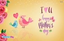 I Love You Happy Mothers Day Message