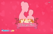I Love You Mom with Flowers Image