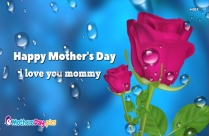 Love U Mom Happy Mothers Day