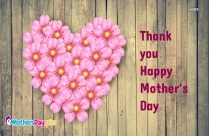 Thank You Happy Mother Day